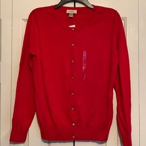 Nwt red cardigan size medium